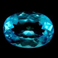 6,95 карата! Натуральний камінь блакитний топаз