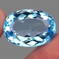 54,9 карата! Натуральний камінь блакитний топаз